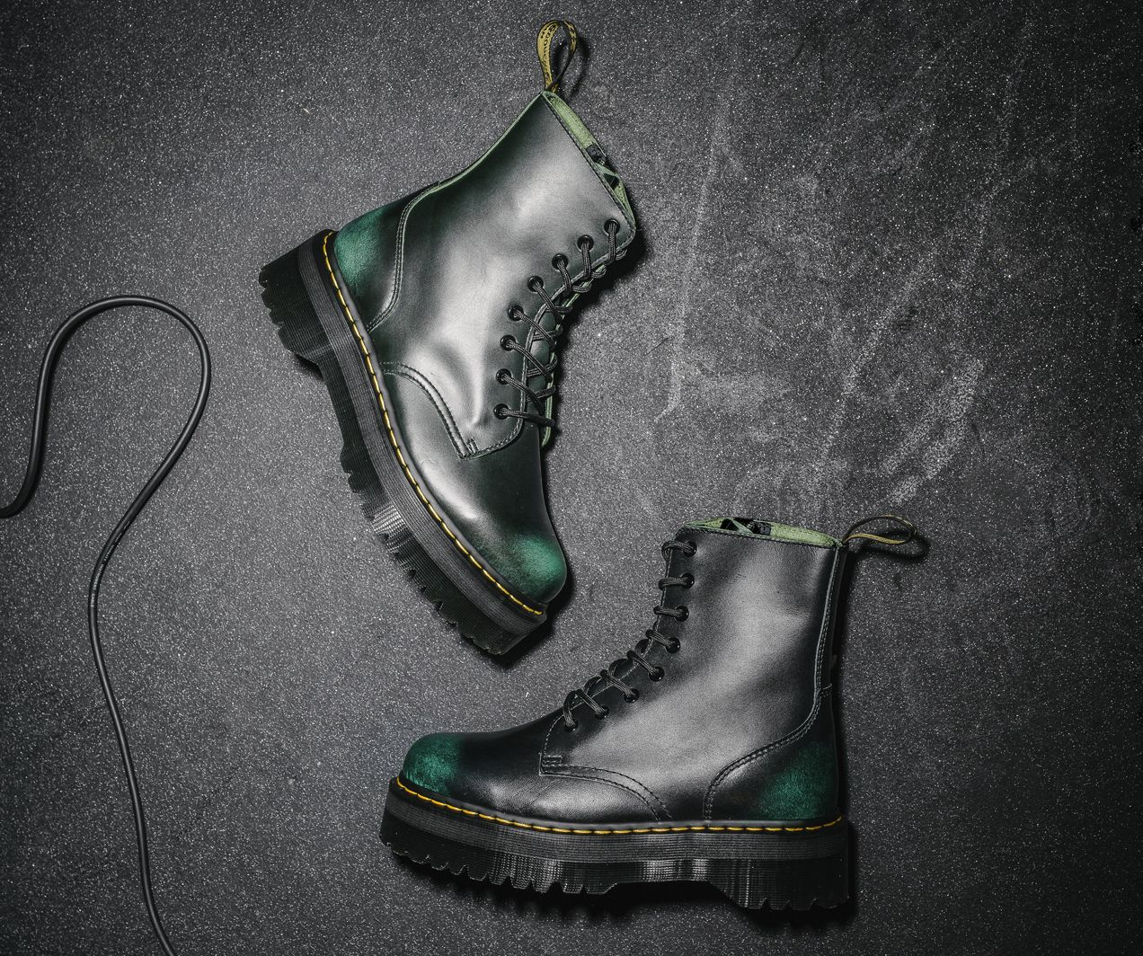 e4a07f53c Vintage Green · A fierce evolution of our 8-eye boot, the Jadon retains all  of the
