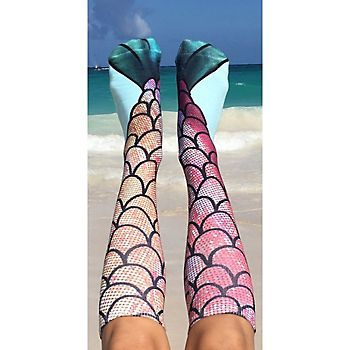 535a261fcaa Mermaid Socks Channel your inner mermaid with these fun Living Royal knee - high mermaid socks.