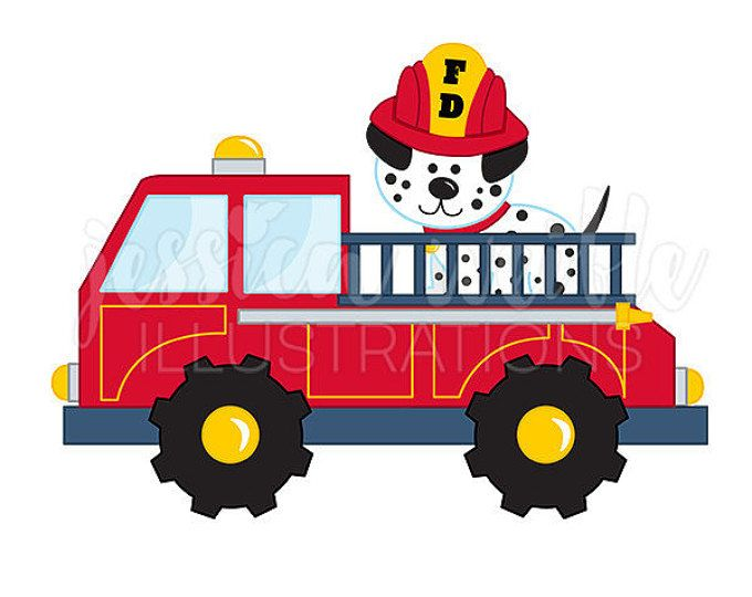 fire truck with dalmatian cute digital clipart fire truck clip art rh pinterest com fire engine clip art images fire engine clip art free