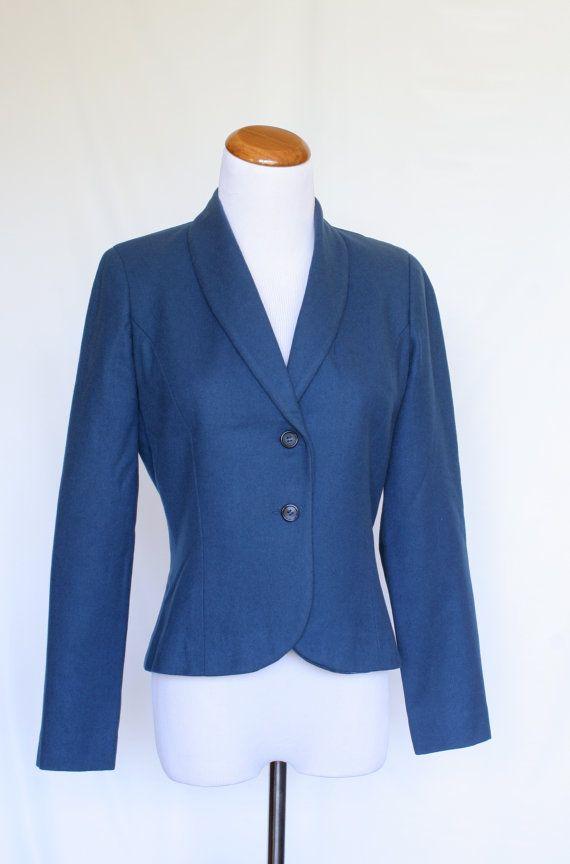 70's Vintage Pendleton Wool Jacket in Cadet by pinebrookvintage, $48.00