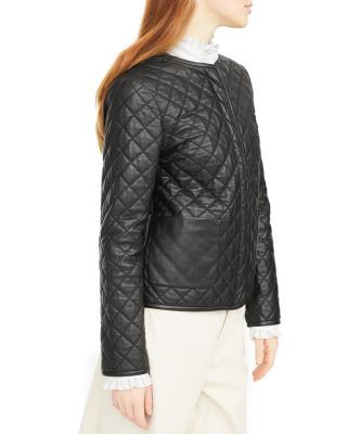 Weekend Max Mara Lazio Quilted Leather Jacket