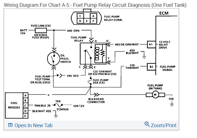 Pump Wiring Diagram How Can I Jump Around The Fuel Pump Relay In 2020 Relay Fuel Silverado
