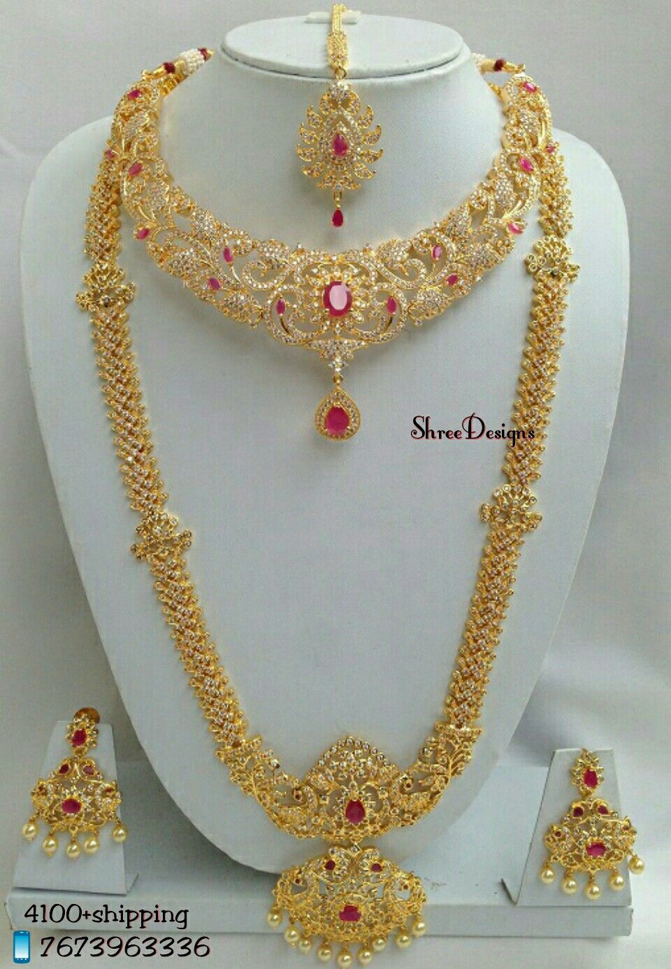 Wedding Jewellery Whatsapp 7673963336 Indian Brides Jewelry Gold Necklace Indian Bridal Jewelry Gold Jewelry Fashion