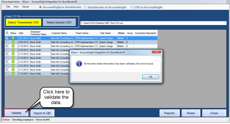 Get software for data import and convert. http://www.qbconvert.com ...