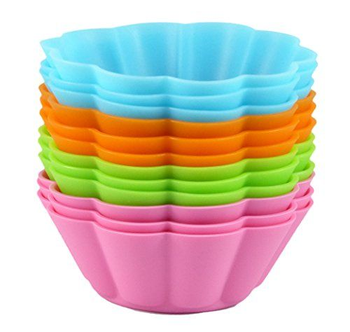Bakerpan Silicone Cupcake Holders Baking Cups Flower Shape 12 Pack *** You can find out more details at the link of the image.(This is an Amazon affiliate link and I receive a commission for the sales)