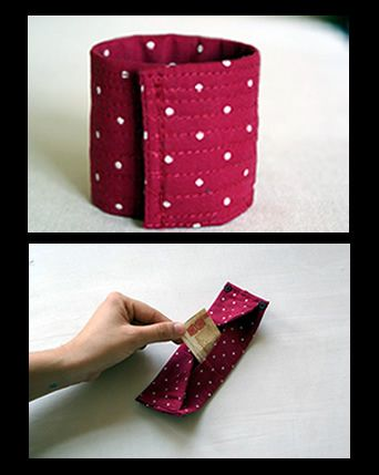 0bb2b72538cb diy tutorial para hacer un brazalete-cartera by lomurella