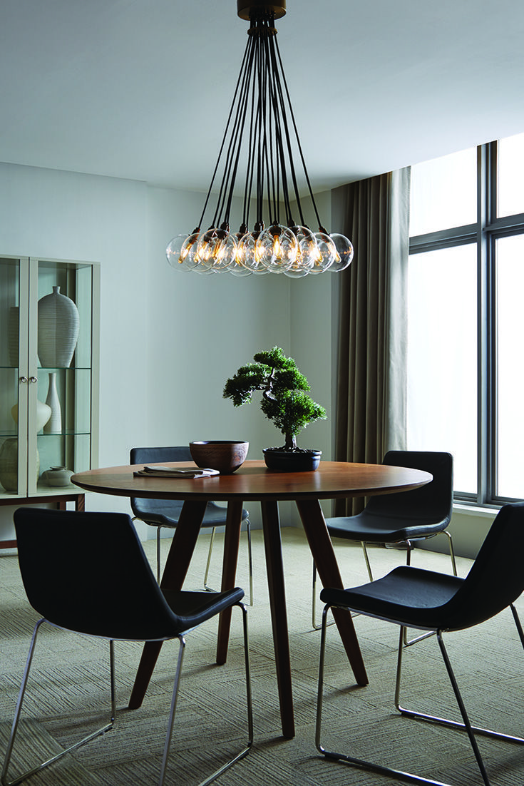 The Gambit 19-Lite LED multiport chandelier family from Tech ...