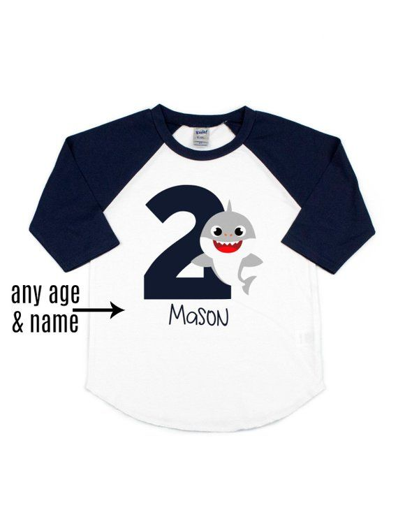 81d2ad94e11 baby shark birthday shirt