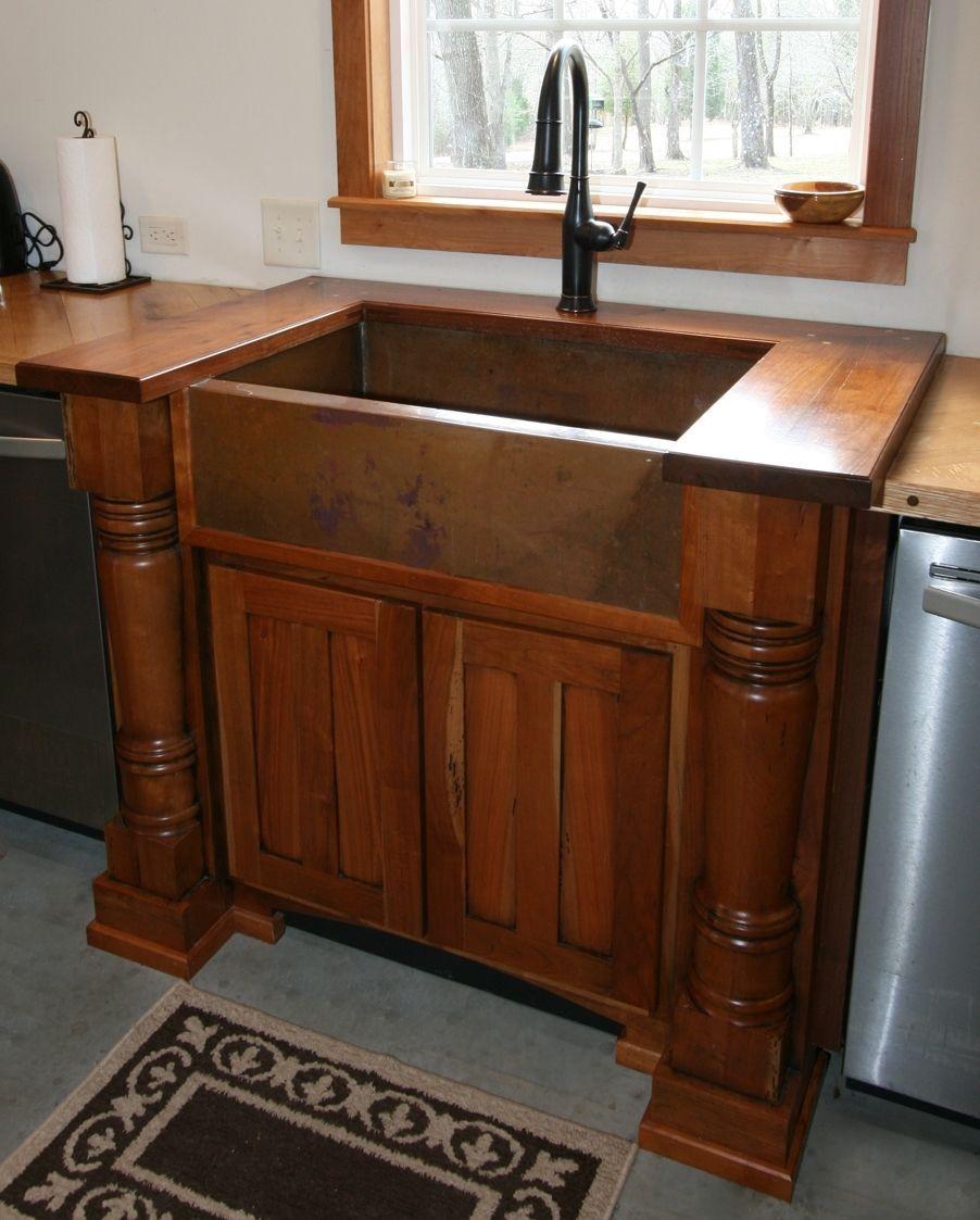 Copper Farmhouse Sink Google Search Farmhouse Sink Kitchen Sink Cabinet Kitchen Sink Cabinet