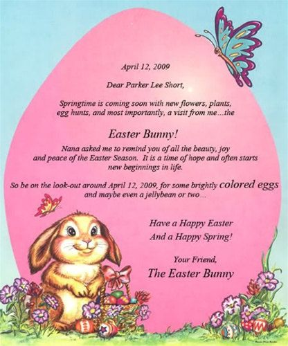 Letter From The Easter Bunny Peter Rabbit Personalized By Wehive