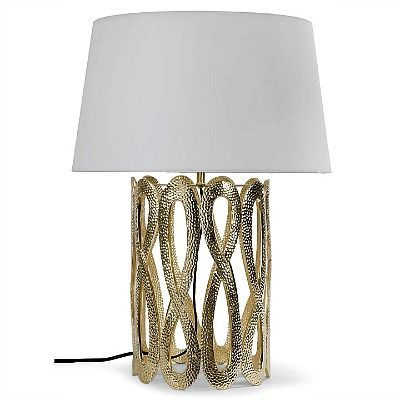 Tall Infinity Table Lamp   Gold
