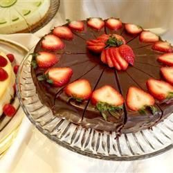 Cheesecake trufado de chocolate @ allrecipes.com.br