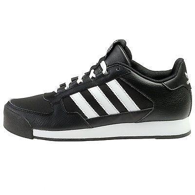 c7f0d9ba3fba2d Adidas Samoa Runner Juniors F37551 Black White Running Shoes Kids Youth  Size 6.5