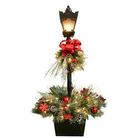 4ft IndoorOutdoor PreLit Scotch Pine Artificial Christmas Tree
