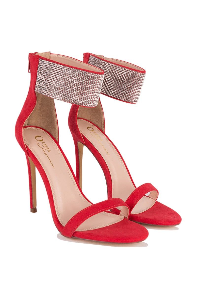 db284aa2b19fd Diamond Ankle Strap Heels in Red and Black | My ❤️ for SHOES ...