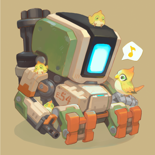 Bastion Overwatch Wallpapers Overwatch Drawings Chibi Overwatch