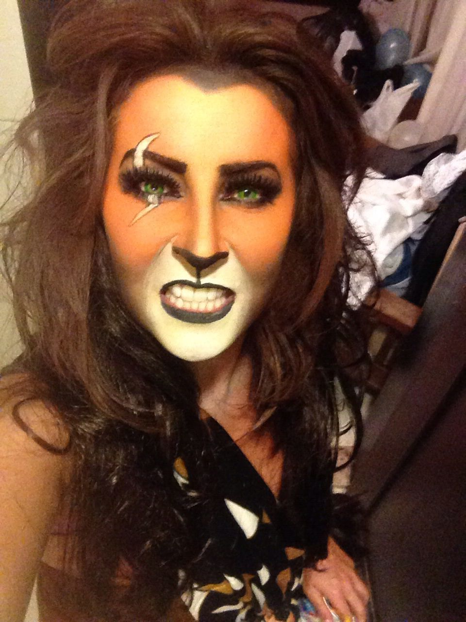 Scar Face Paint - The Lion King | Just Me | Pinterest | Lions Face And Costumes