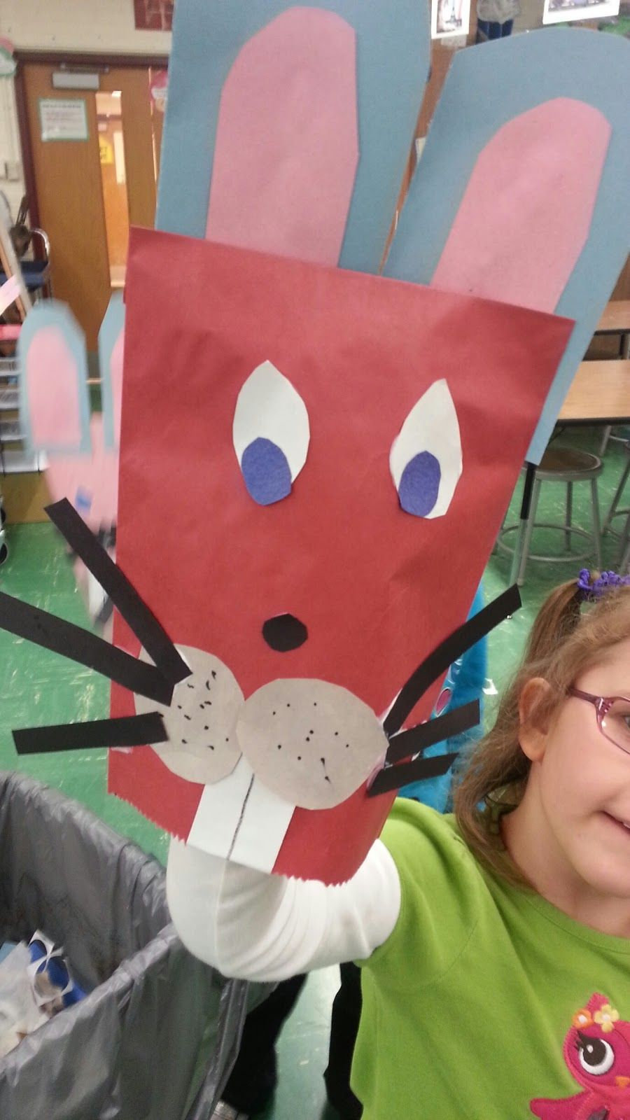Attack of the Bunny Puppets! A Kindergarten Spring Project