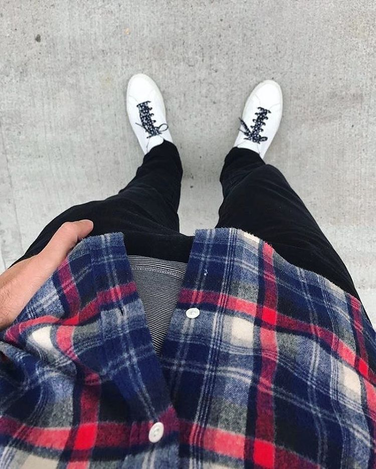Checks shirt koovs   white Sneakers