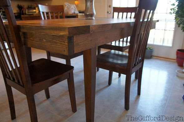 The Gifford Design Diy Farm Table Over The Top Of An