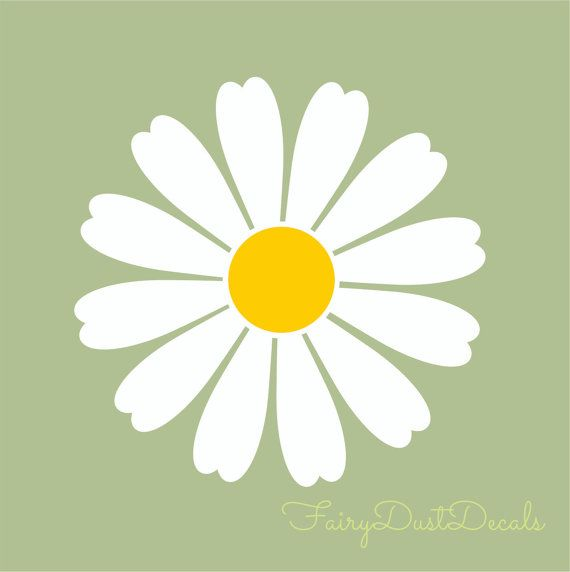 room Decor? Daisy wall decals Set of 25 each measures 4x4 inches ...