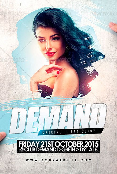 Demand 2 Flyer PSD Template - http://www.ffflyer.com/demand-2-flyer-psd-template/ Demand 2 Flyer PSD Template - The template comes in psd format, and you can edit the file in Adobe Photoshop. The file is 4 in by 6 in in size (4.25in, 6.25 + Bleed & Guide lines), it comes in CMYK color space at 300 dpi, so it's ready for print.   #Club, #Dance, #Dj, #Dubstep, #Edm, #Electro, #House, #Lounge, #Nightclub, #Party, #Trance