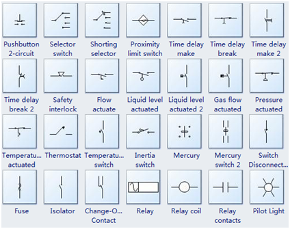 on gates electrical diagram schematic symbols