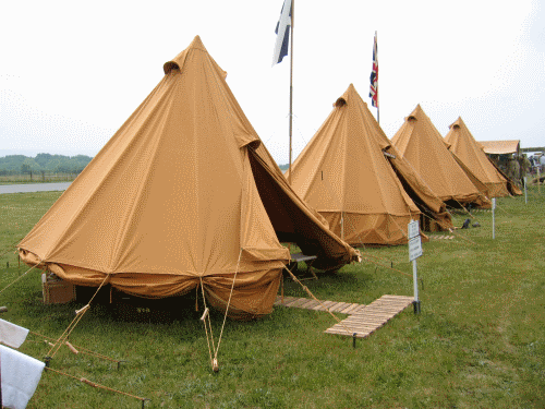 WWII British and Canadian conical tent 1942 (replica
