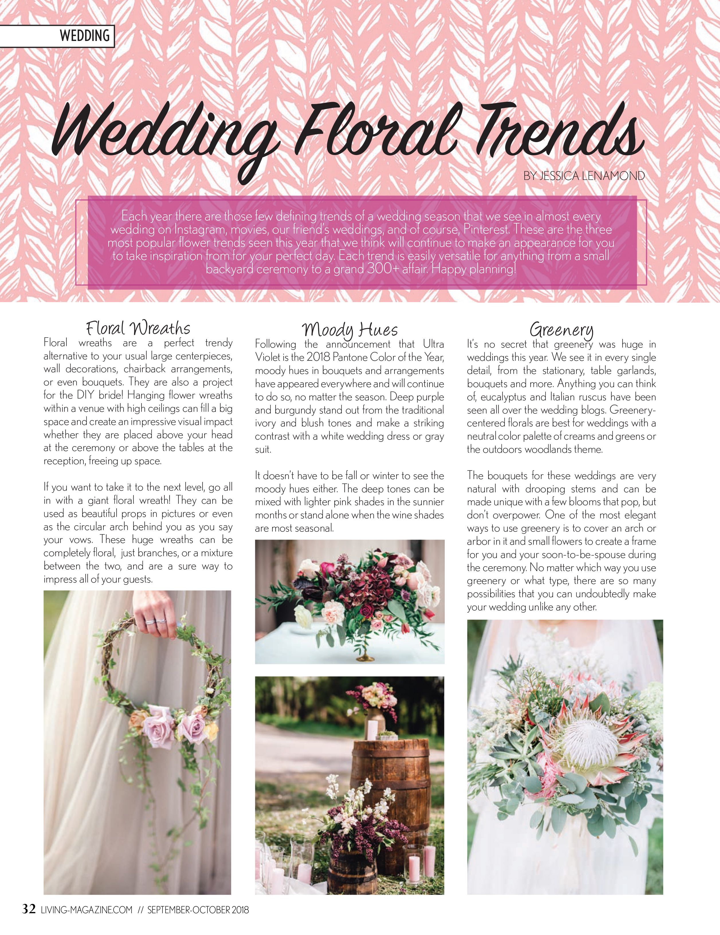 Wedding decorations purple october 2018 September  Ellis County Living Magazine  The Wedding Issue