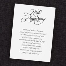 Customize Your Own Stylish Silver 25th Wedding Anniversary