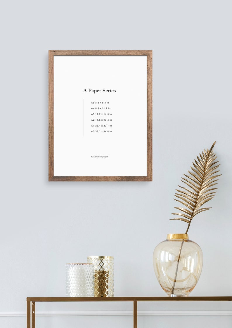 Frame Mockup 312 Dark Wood Portrait Photo Frame Styled Thin Frame Mock Up A4 Wall Art Display Psd Smart Object In 2020 Frame Mockups Photo Frame Boho Frame
