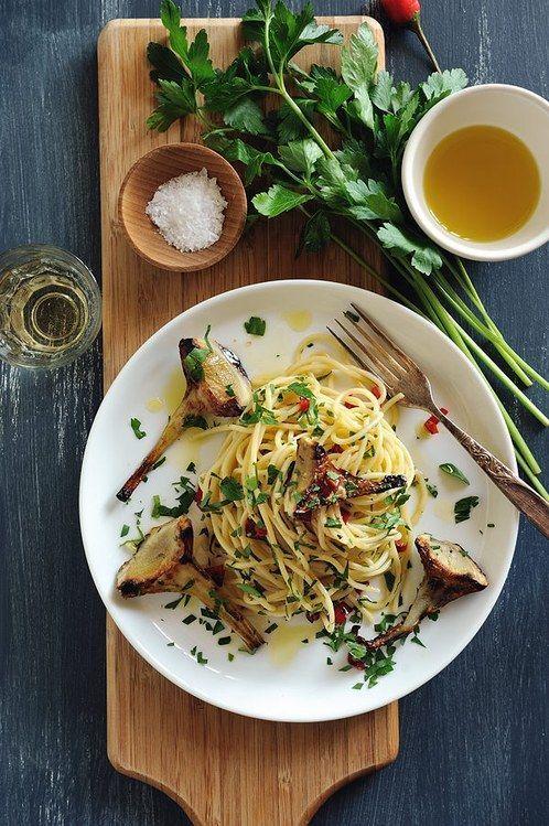 Artichokes with Spaghetti (Souvlaki For The Soul)