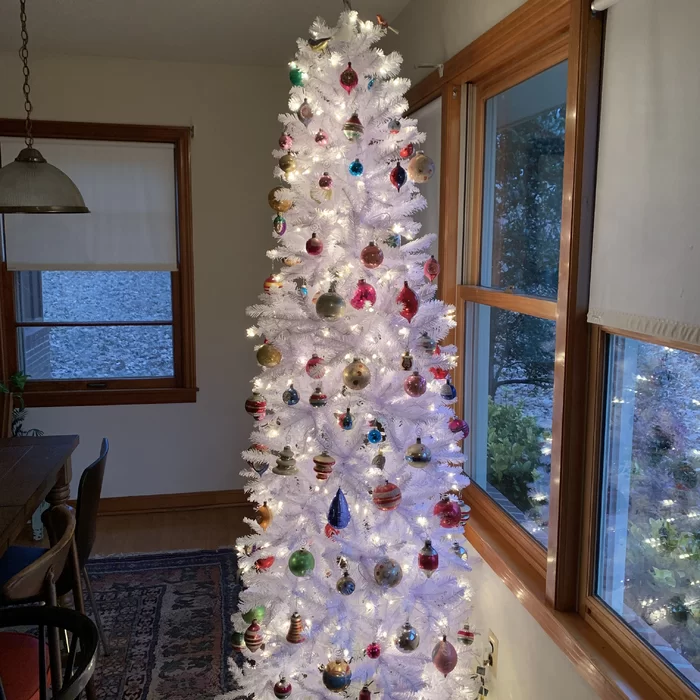 Long Island Christmas Tree Lighting 2020 Hashtag Home White Fir Artificial Christmas Tree with Clear/White
