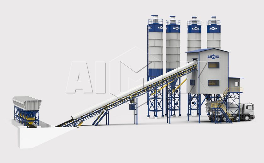 ready mix concrete plant layout in 2020 Types of