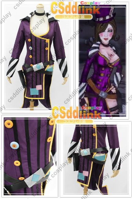 Clothing Shoes Accessories Unisex Borderlands Cosplay Costume Mad Moxxi Attire Dress Hat Belt Suit Outfit Full Set Sraparish Org
