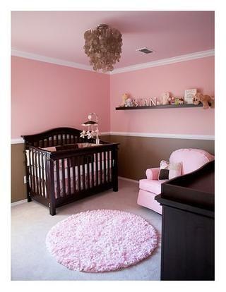 Pink And Brown Pink Girl Room Girl Room Baby Girl Bedroom