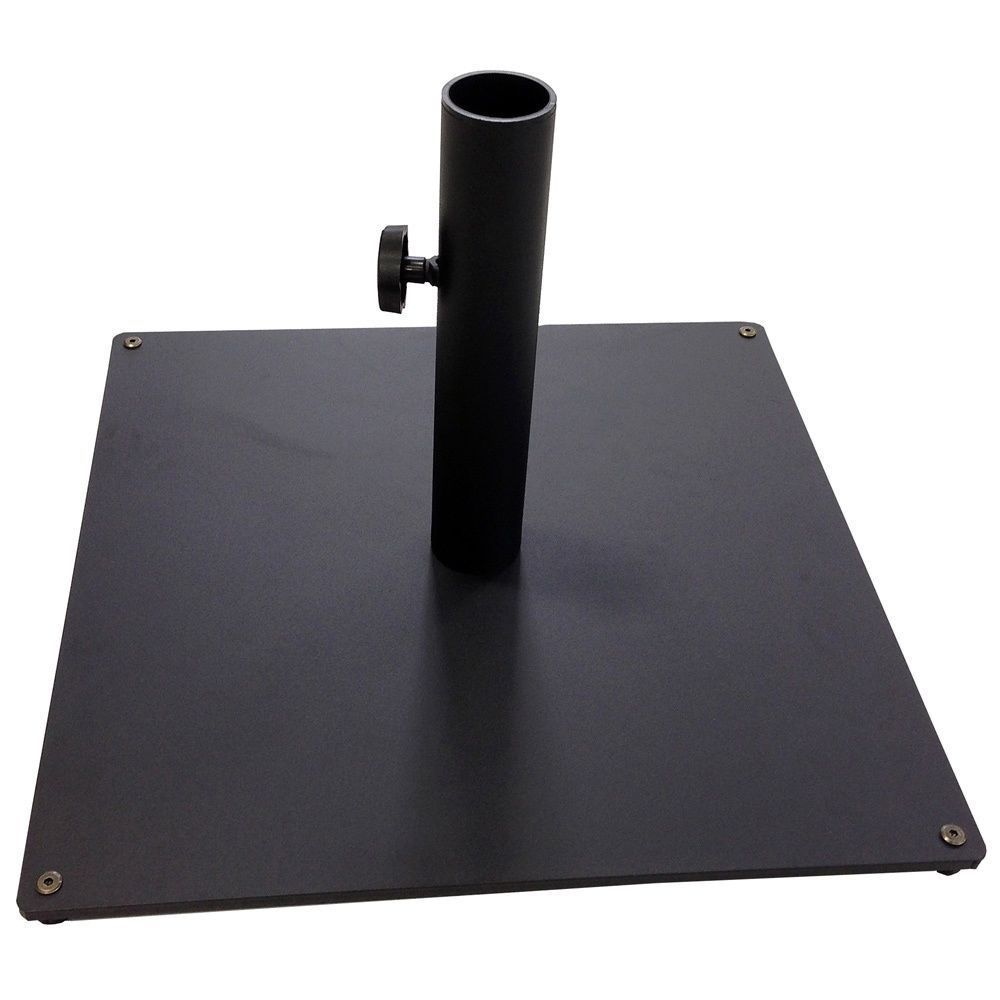 Outdoor Umbrella Stand Black Patio Base Square Table Deck Pool Steel