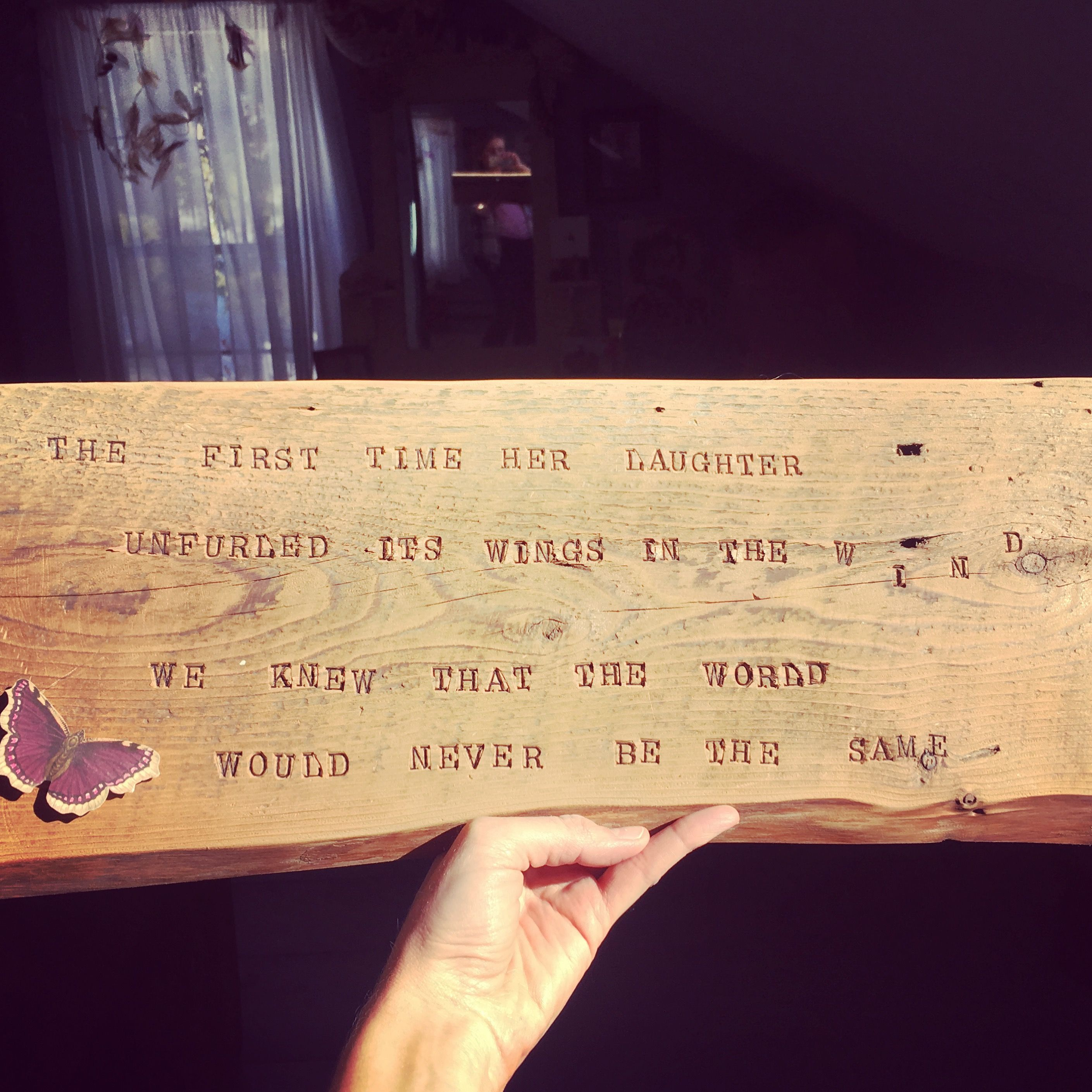 Brian Andreas quote hand-stamped on Neverbird wall art for a little ...