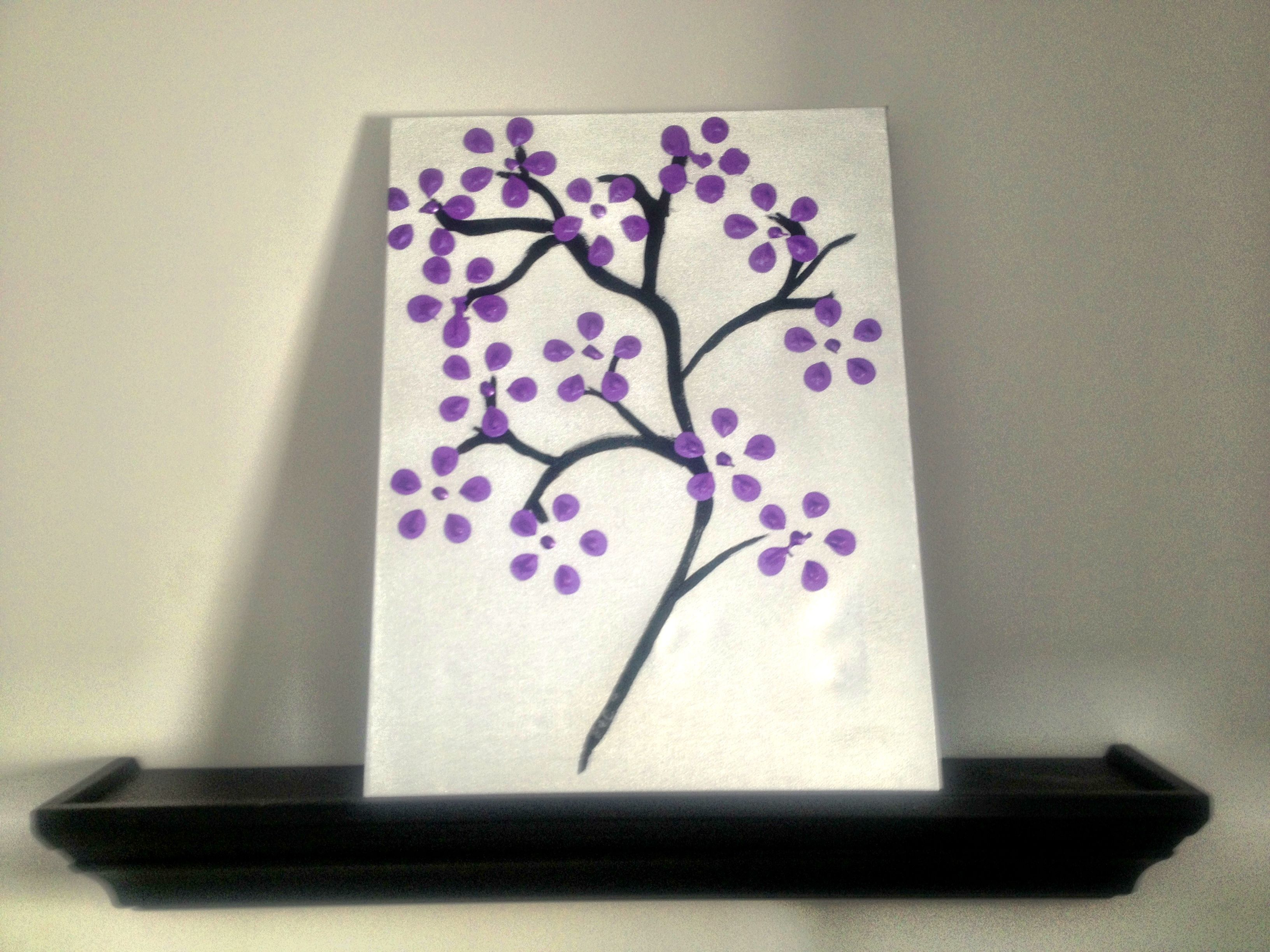 Diy Flower Canvas Spray Painted Canvas And Bottom Of Pop