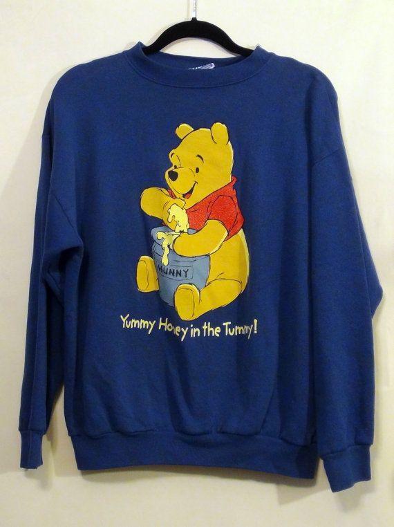 44f6cc398388fb Vintage Blue Winnie the Pooh Sweatshirt L by NativeLilacVintage, $20.00