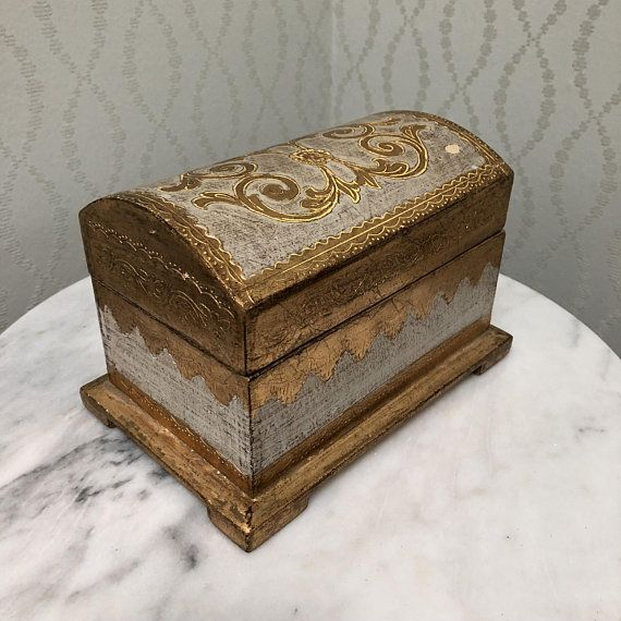 Gilded Florentine Italian Miniature Chest Products