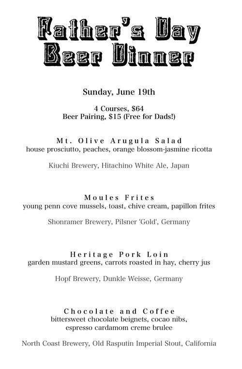 Beer Pairing Menu  Beer  Wine    Beer Menu And Crab Boil
