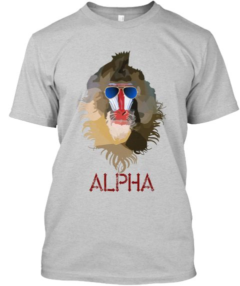Alpha Lead Light Steel TShirt Front go to https
