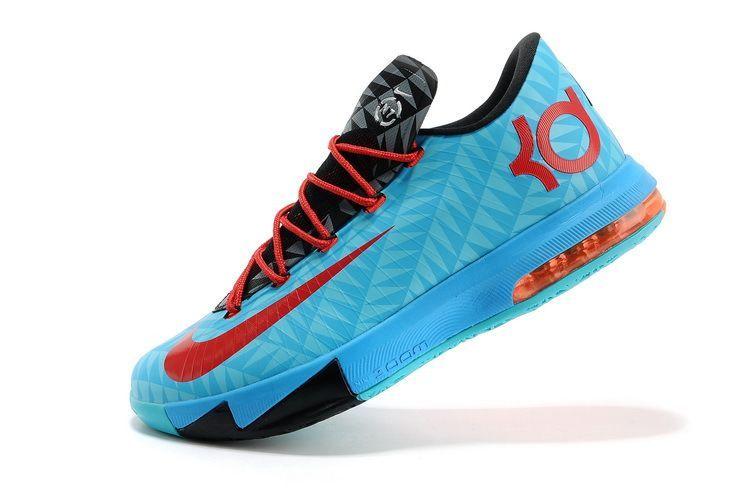 47be642a22cc Nike KD VI (6) N7 Aqua Blue Red-Black-Orange