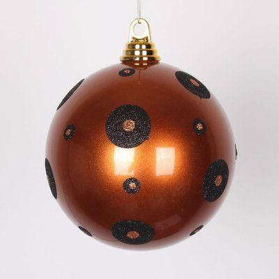 Vickerman Glitter Polka Dots Christmas Ball Ornament