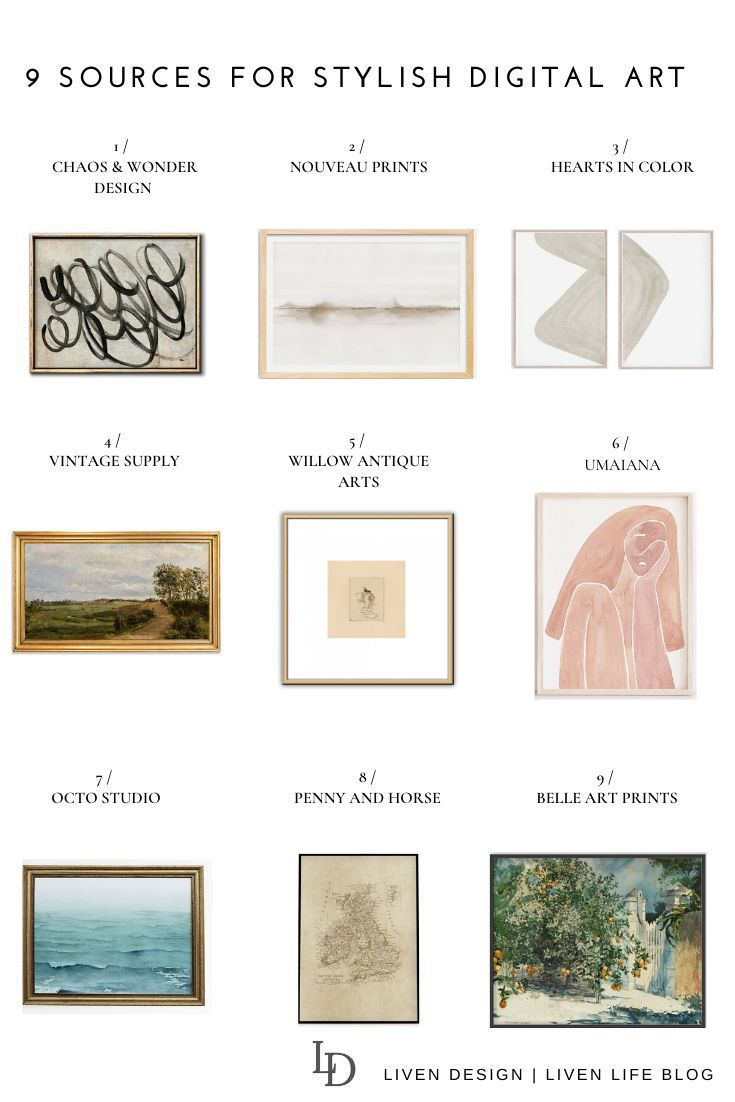 9 Sources For Affordable Art Prints To Download And Print At Home Affordable Art Prints Etsy Art Prints Affordable Art