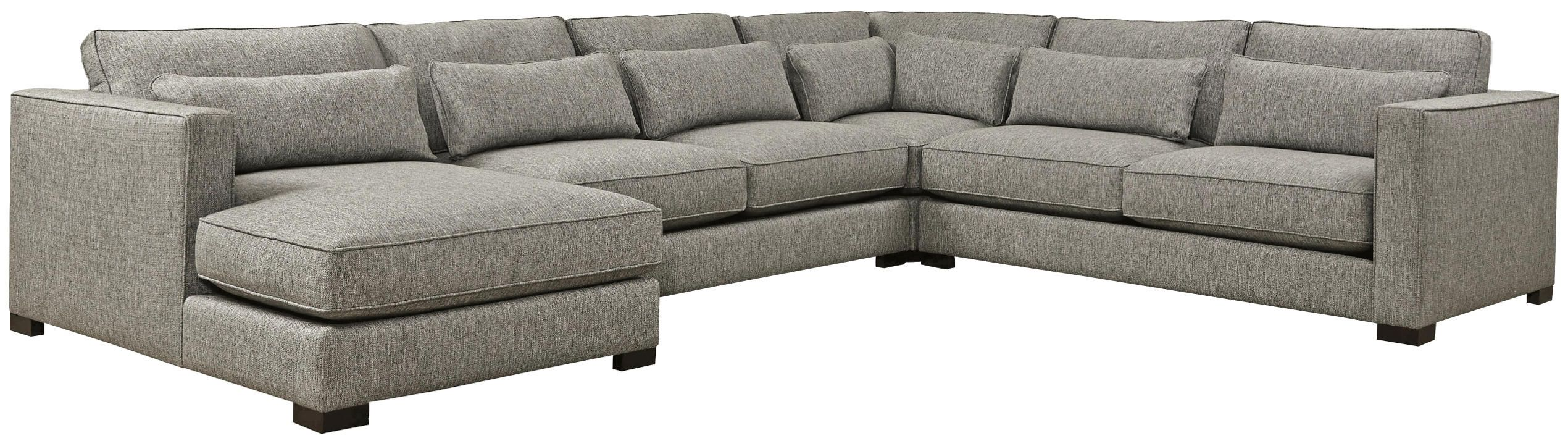 Detroit Sofa Co: Ambassador Sectional Is Very Inviting With A Soft Fabric  And Matching Kidney