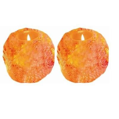 Himalayan Salt Lamp Home Depot Endearing Wbm Himalayan Ionic Crystal Natural Candle Holder Set Of 2 1 Hole Design Inspiration