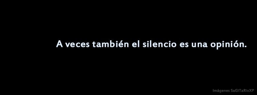 Portada Para Facebook A Veces El Silencio Frases De