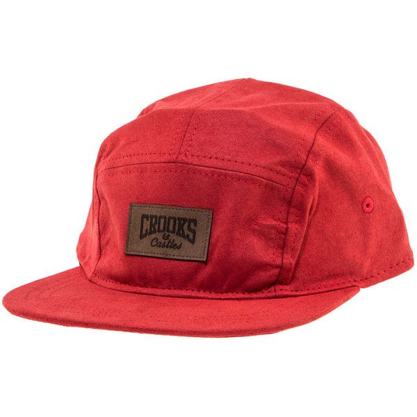 Crooks and Castles The Core Logo Snapback Hat in True Red ($20) ❤ liked on Polyvore featuring mens, men's accessories, men's hats and red